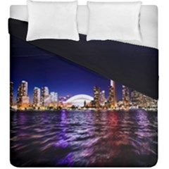 Toronto City Cn Tower Skydome Duvet Cover Double Side (king Size)