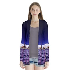 Toronto City Cn Tower Skydome Drape Collar Cardigan