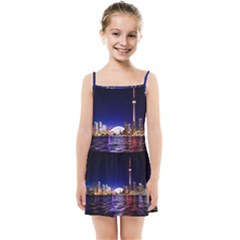 Toronto City Cn Tower Skydome Kids Summer Sun Dress