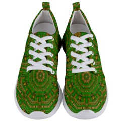 Wonderful Mandala Of Green And Golden Love Men s Lightweight Sports Shoes
