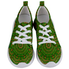 Wonderful Mandala Of Green And Golden Love Women s Lightweight Sports Shoes