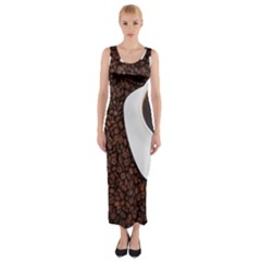 Coffee Fitted Maxi Dress