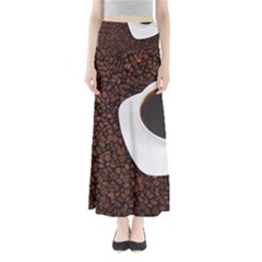 Coffee Full Length Maxi Skirt