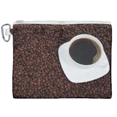 Coffee Canvas Cosmetic Bag (xxl) by goodart
