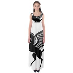 Peo Pegasus Black  Empire Waist Maxi Dress