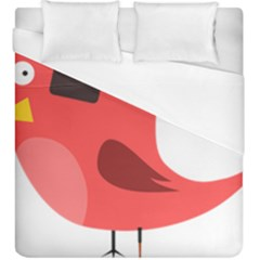 Pirate Bird Vector Clipart Duvet Cover (king Size)