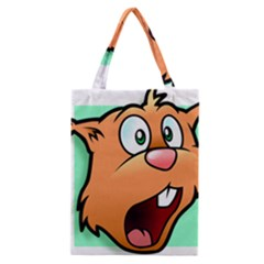 Surprised Chipmunk Face Vector Art Classic Tote Bag