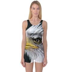 Bald Eagle Portrait  One Piece Boyleg Swimsuit