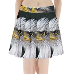 Bald Eagle Portrait  Pleated Mini Skirt