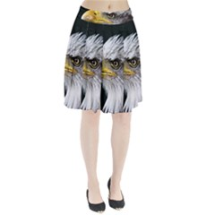 Bald Eagle Portrait  Pleated Skirt