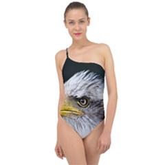 Bald Eagle Portrait  Classic One Shoulder Swimsuit