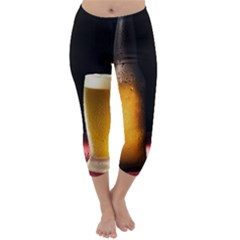 Cold Beer Capri Winter Leggings