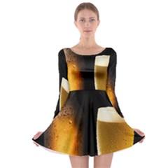 Cold Beer Long Sleeve Skater Dress