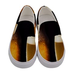 Cold Beer Women s Canvas Slip Ons