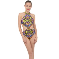 Spirit Of Ireland Halter Side Cut Swimsuit