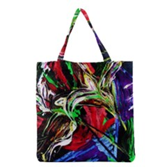 Lillies In Terracota Vase Grocery Tote Bag by bestdesignintheworld