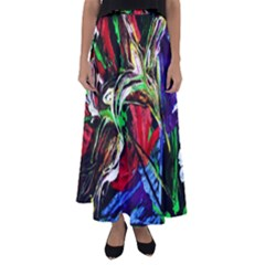 Lillies In Terracota Vase Flared Maxi Skirt
