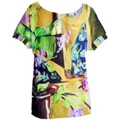 Lilac On A Countertop Women s Oversized Tee by bestdesignintheworld