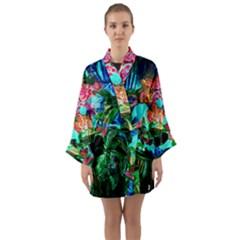 Flowers On The Tea Table Long Sleeve Kimono Robe