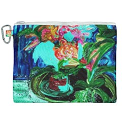 Flowers On The Tea Table Canvas Cosmetic Bag (xxl)
