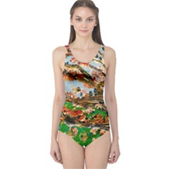 Coral Tree One Piece Swimsuit