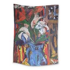 Buckeut In A Blue Jur Medium Tapestry