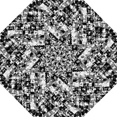 Black And White Patchwork Pattern Straight Umbrellas