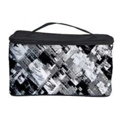 Black And White Patchwork Pattern Cosmetic Storage Case