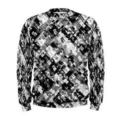 Black And White Patchwork Pattern Men s Sweatshirt