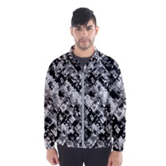 Black And White Patchwork Pattern Wind Breaker (men)
