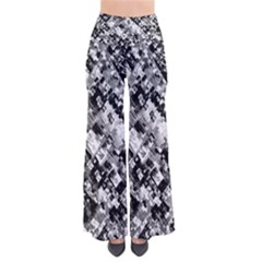 Black And White Patchwork Pattern So Vintage Palazzo Pants