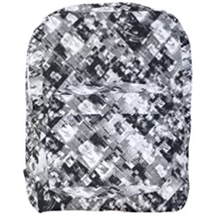 Black And White Patchwork Pattern Full Print Backpack