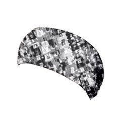 Black And White Patchwork Pattern Yoga Headband