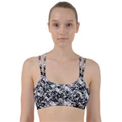 Black And White Patchwork Pattern Line Them Up Sports Bra