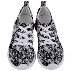 Black And White Patchwork Pattern Women s Lightweight Sports Shoes