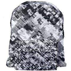 Black And White Patchwork Pattern Giant Full Print Backpack