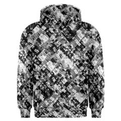 Black And White Patchwork Pattern Men s Overhead Hoodie