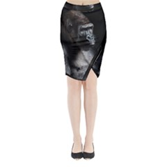 Gorilla Midi Wrap Pencil Skirt
