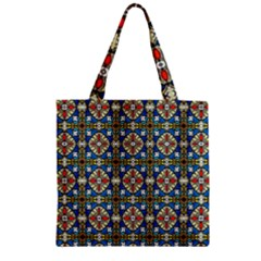 Artwork By Patrick Colorful 42 Zipper Grocery Tote Bag