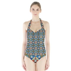 Artwork By Patrick Colorful 42 Halter Swimsuit