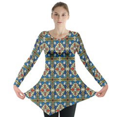 Artwork By Patrick Colorful 42 Long Sleeve Tunic