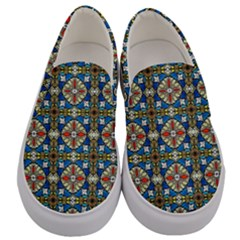 Artwork By Patrick Colorful 42 Men s Canvas Slip Ons