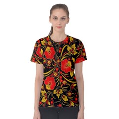 Native Russian Khokhloma Women s Cotton Tee