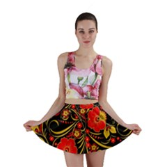 Native Russian Khokhloma Mini Skirt