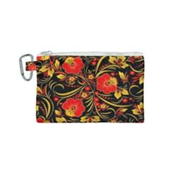 Native Russian Khokhloma Canvas Cosmetic Bag (small)