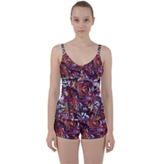 Connections Tie Front Two Piece Tankini