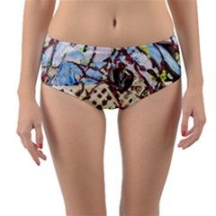 Blooming Tree 2 Reversible Mid Waist Bikini Bottoms