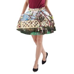 Blooming Tree 2 A Line Pocket Skirt
