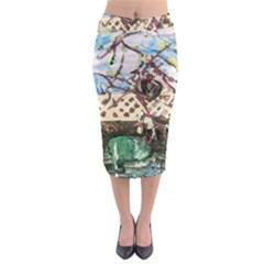 Blooming Tree 2 Midi Pencil Skirt by bestdesignintheworld