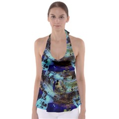 Blue Options 3 Babydoll Tankini Top